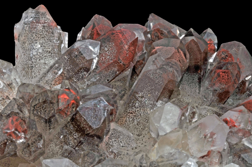 cristaux de quartz avec hŽmatite : Orange River, Namaqualand, No